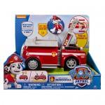 Paw Patrol 6023996 Deluxe Marshall Veicolo con Personaggio, Rosso