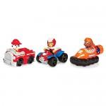 Paw Patrol 6026590 - Rescue Racers Confezione 3 Personaggi, Marshall, Zuma, Rider
