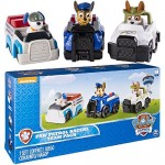 Paw Patrol 6035215 - Rescue Racers Confezione 3 Personaggi, Trucker, Chase, Robodog