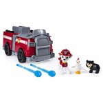 PAW PATROL 6052637 - Ride N Rescue, Camion dei Pompieri Marshall, Veicolo e Set da Gioco 2 in 1