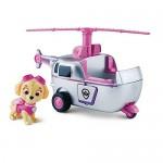 Paw Patrol - La Squadra Dei Cuccioli – Skye Con Elicottero – Personaggio E Veicolo