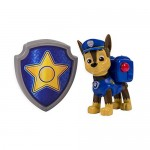 Paw Patrol - La Squadra Dei Cuccioli – Action Pack – Chase – Personaggio Zaino Con Distintivo