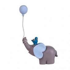 PerGrate - Decorazione per Torta a Forma di Elefante con Palloncini, Idea Regalo Blu