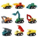 PL Macchinine Giocattolo per Bambini Camion Giocattoli Veicoli Ruspe Scavatore Mini Auto Regalo Ragazza Ragazzo 3 4 5 6 Anni