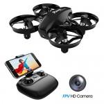 Potensic Mini Drone con Telecamera Telecomando Quadricottero WiFi Batteria Rimovibile con Funzione di Sospensione Altitudine, Modalità Senza Testa,...