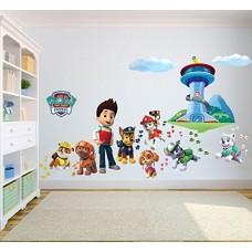 Adesivi da parete 3D dei Paw Patrol - La squadra dei cuccioli, per camera dei bambini