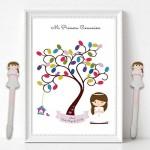 12 pezzi, penna regalo, bomboniere comunione bambina, ricordi e regali di prima comunione per gli ospiti Bambina rosa