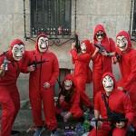 Cosplay La Casa De Papel Costume Felpa con Cappuccio Unisex Costume da Bambino Adulto per Combinazioni La Casa De Papel Tuta Rossa + Maschera Costu...