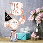 Qpout Bastoncini centrotavola 18 ° Compleanno Oro rosa-18 ° e di Compleanno Accessori-Finalmente Un Adulto legale -Party Saluti a 18 Anni Festa di ...