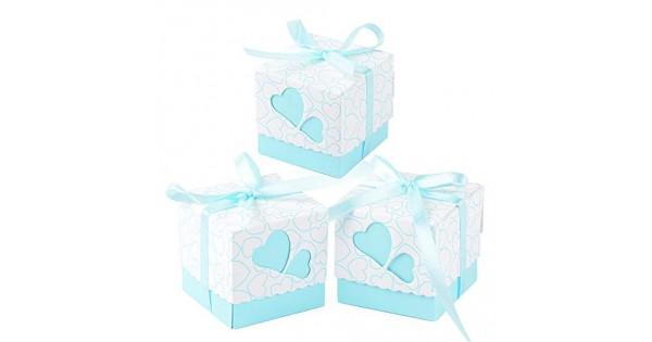 Bomboniere Di Carta Battesimo : Qumao cm pz scatole portaconfetti di carta