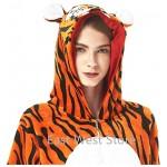 Adulto e Bambino Unisex Unicorno Tigre Leone Volpe Tutina Animale Cosplay Pigiama Costume di Carnevale di Halloween Fancy Dress Loungewear (Tiger, ...