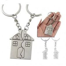 Portachiavi personalizzato - Due portachiavi casa coppia compagni pavimento - originali incisi con i vostri nomi - regalo ideale per coppie prima n...
