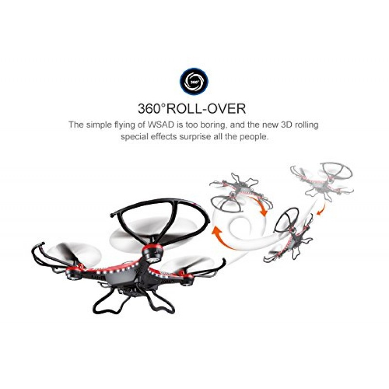 jjrc h8d 2 4 ghz 6axis gyro headless mode rc quadcopter