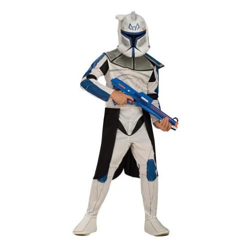 Star Wars Clone Trooper Captain Rex Costume - Childs Fancy Dress - Medium