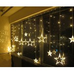 Salcar luci colorate di Natale del LED 2 * 1 metro 12 stelle colorate illuminano tenda per le feste di Natale, Decorare, Party, 8 programmi scelta ...