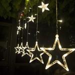 Salcar luci colorate di Natale del LED 2 * 1 metro 12 stelle colorate illuminano tenda per le feste di Natale, Decorare, Party, 8 programmi scelta ...