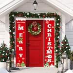 Sayala Decorazioni di Natale Outdoor Indoor - 2 Pezzi di Benvenuto Buon Natale Portico Segno Banner Door - Benvenuto Decorazioni per Porta di Natal...