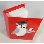 20 PZ Libro Laurea portaconfetti GUFO GUFETTO con tocco BOMBONIERA