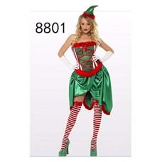 01db1849c7288c SDLRYF Babbo Natale Vestito Natale per Adulti Cosplay Costume Verde Albero  di Natale Tutu Natale Vestito