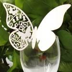 100 Segnaposto Segnabicchiere Farfalla in Carta Segnatavolo per Feste Matrimonio
