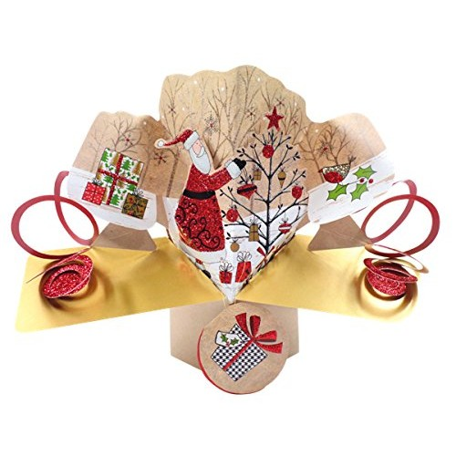 "Second Nature pop UPS XPOP029 ""Babbo Natale e un albero di Natale pop up card"