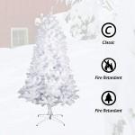 Albero di Natale Bianco Verde, Albero di Natale Artificiale in PVC Ignifugodi in Diverse Misure ( Bianco,1,8 Metri )