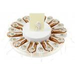 Sindy Bomboniere 8054382130 Torta Prima Comunione Chiave, Resina, Panna, 30 x 30 x 5 cm