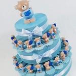 Torta BOMBONIERE Orsetto Assortito portafoto SPEDIZIONE Inclusa Bimbo Compleanno Battesimo * (Torta da 35 fette)