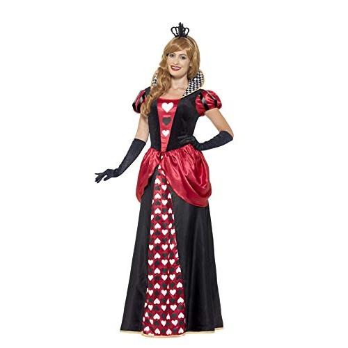 SMIFFYS Costume Regina rossa, rosso, con abito e corona