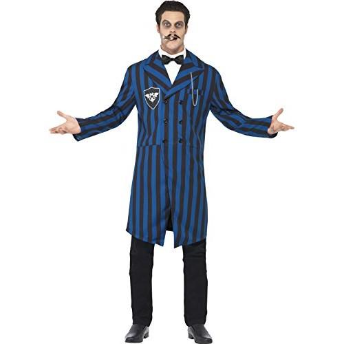 SMIFFYS Smiffy's - Costume da Gomez della Famiglia Addams in stile gotico, Uomo, taglia: L, colore: Blu/Nero