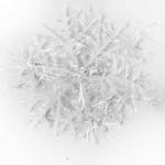 SODIAL (R) 20 pacchetti con 60 Pezzi di fiocchi di neve bianco per appendere ornamenti albero di Natale 6 centimetri