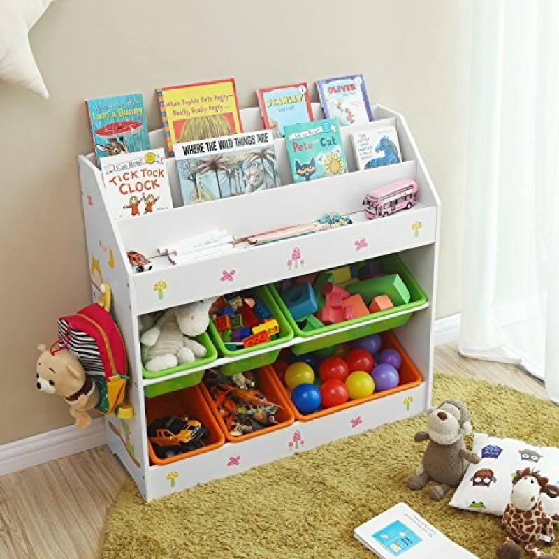 Scaffali E Librerie Per Bambini.Songmics Scaffale Per Libri E Giocattoli Per Bambini Libreria A 3