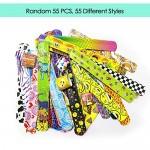 SPECOOL Braccialetti Slap 55Pcs Slap Bracelets Gadget Bracciali a Scatto, Bomboniere Party Supplies Favors per Bambini, Ragazze e Ragazzi(55pcs)