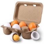 StillCool Uova di Pasqua 6pcs i tuorli di legno di uova di Pasqua pretende che i bambini giocano giocattolo dei capretti dell'alimento della cucina...
