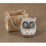 24 bomboniere decorative in ceramica mod. gufi ass. 6 colori cm. 5 x 3,5 x h. cm. 5,5