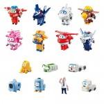 Super Wings Transform-a-Bots World aeroporto Crew   Series 2Pezzi da Collezione     15Giocattolo cifre   5,1cm cifre