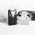 100pz. Carte Bomboniera 50pz. di Sposo + 50pz. di Sposa Per Confetti Matrimonio + Nastro