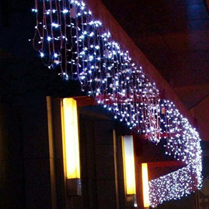 Luci Di Natale Esterno.448 Led 10m X 1m Interno Esterno Del Partito Di Natale Natale Leggiadramente Della Stringa Di Cerimonia Nuziale Hotel Festival Ristoranti B