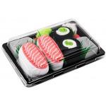 Rainbow Socks - Donna Uomo Calzini Sushi Salmone Cetriolo Maki - 2 Paia - Taglia UE 41-46