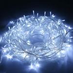 SYCEES Nastro Catena Luci 200 LED 23M Bianco Freddo da Interno 8 Effetti di Illuminazione/Funzione di Memoria/ IP44 / Luce Feste Natale Matrimonio ...