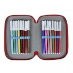 Paw Patrol 2700-197 Astuccio Triplo, 3 Scomparti, Pennarelli, Pastelli, Accessori Scuola 42 pezzi, Poliestere, Multicolore