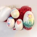 Confezione da 50 pezzi - Grande assortimento di uova di Pasqua in polistirolo - Varietà di formati - Regalo pasquale ideale per i bambini per tagli...