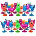 THE TWIDDLERS Monster Jump ups - Piccoli Molla Mostri Giocattolo - Confezione da 36 Giocattoli Pop up - Ideale per Borse da Festa, pentolaccia, Bam...