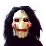 Maschera SAW JIGSAW con capelli sintetici - Perfetti per carnevale e Halloween - Costume adulto - Latex, Unisex Taglia unica