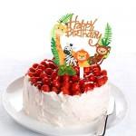 TOYMYTOY Toppers Cupcake Acrilico Animale - Cute Jungle Animals Cake Picks per DIY Baby Shower Decorazione Torta di Compleanno