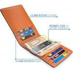 """TRAVANDO ® Portafoglio uomo con protezione RFID """"RIO"""" Porta carte di credito con clip per contanti, Porta tessere slim tascabile, Porta documenti p..."""
