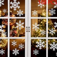 108 PZ Natale Adesivi Finestre Finestra Decorazione Natale Rimovibile Natale Vetrofanie Adesivi Murali Fai da te Finestra Decorazione Vetrina Wallp...