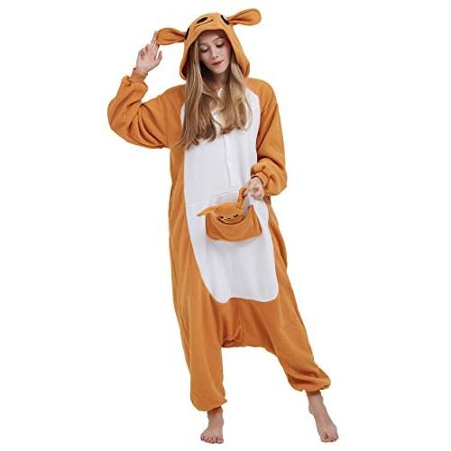 Pigiama Anime Cosplay Halloween Costume Attrezzatura Adulto Animale Onesie Unisex, Canguro per Altezze da 140 a 187 cm