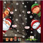 UMIPUBO Natale Adesivi Porta Natale Vetrofanie Addobbi Rimovibile Adesivi Statico Fai da te Finestra Sticker Decorazione Babbo Natale Vetrina Wallp...
