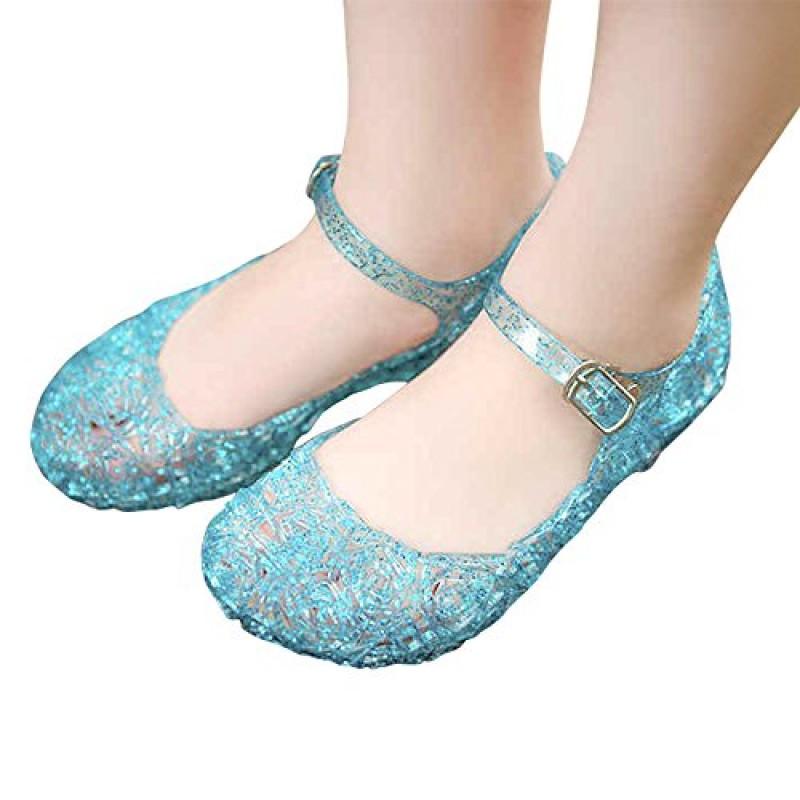 super popular d017a 9d888 URAQT Ragazze Scarpe da Principessa Elsa Frozen, Partito ...